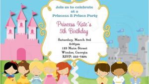 Prince and Princess Birthday Party Invitations Princess and Prince Invitation Digital File