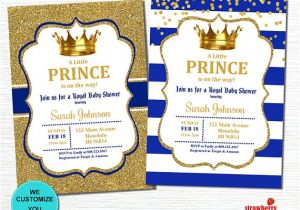 Prince Baby Shower Invites Prince Baby Shower Invitation Royal Baby Shower Invitation