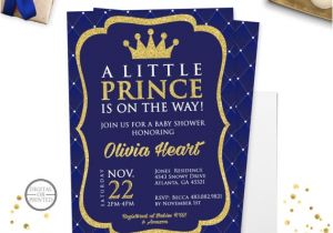 Prince Baby Shower Invites Prince Baby Shower Invitation Royal Prince Baby Shower
