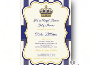 Prince Baby Shower Invites Royal Prince Baby Shower Invitations Little Prince Baby