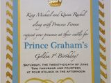 Prince First Birthday Invitations 17 Best Images About Golden 1st Birthday On Pinterest