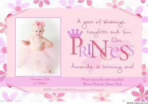 Princess 1st Birthday Invitation Wording Flower Princess Birthday Invitation Photos Girl Party Royal