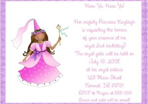 Princess 1st Birthday Invitation Wording Princess Party Invitation Wording Gangcraft Net