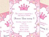 Princess 1st Birthday Party Invitation Wording Princess Birthday Invitation Card butterfly Custom Girl 1st