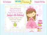 Princess 1st Birthday Party Invitation Wording Princess Birthday Invitations