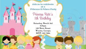 Princess and Prince Party Invitations Princess and Prince Invitation Digital File