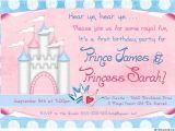 Princess and Prince Party Invitations Royal Photo Birthday Twin Invitation Prince Princess Party