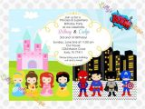 Princess and Superhero Party Invitation Template 11 Best Images About Fairy Princess Superhero Party On