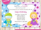 Princess and Superhero Party Invitation Template 18 Nice Princess Superhero Birthday Party Invitations
