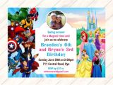 Princess and Superhero Party Invitation Template 9 Princess Party Invitations Psd Png Vector Eps