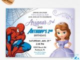 Princess and Superhero Party Invitation Template Princess and Superhero Party Invitations Cimvitation