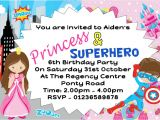 Princess and Superhero Party Invitations Princess and Superhero Party Invitations Cimvitation