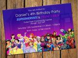 Princess and Superhero Party Invitations Princess and Superheroes Invitations Envelopes
