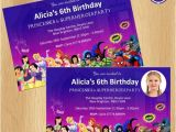 Princess and Superhero Party Invitations Princess and Superheroes Party Invitations Envelopes