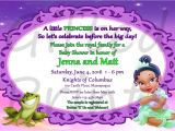Princess and the Frog Baby Shower Invitations Baby Shower Invitation Princess and the Frog theme