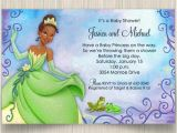 Princess and the Frog Baby Shower Invitations Princess Tiana and Frog Baby Shower Invitations
