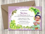 Princess and the Frog Baby Shower Invitations Princess Tiana Baby Shower Invitation by Uniquelyjdesigns