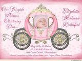 Princess Baptism Invitations Fairytale Christening Invitations Baptism Royal Cinderella