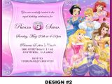Princess Bday Party Invitations Disney Princess Birthday Invitation Rapunzel Tangled Belle
