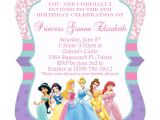 Princess Bday Party Invitations Disney Princesses Birthday Invitations Disney Princess
