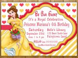 Princess Belle Party Invitations Belle Invitation Disney Princess Belle Party Invitations