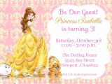 Princess Belle Party Invitations Princess Belle Beauty the Beast Invitation Kid 39 S