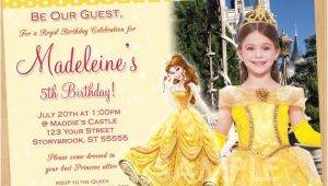 Princess Belle Party Invitations Princess Belle Invitation Beauty and the Beast Invitation