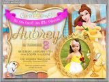Princess Belle Party Invitations Princess Belle Invitation Disney Beauty and the Beast Invite