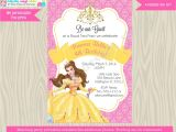 Princess Belle Party Invitations Princess Belle Invitation Invite Belle Birthday Invitation