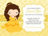 Princess Belle Party Invitations Princess Belle Invitation Princess Party Invitation Princess