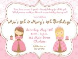 Princess Dress Up Party Invitations Birthday and Party Invitation Princess Dress Up Party