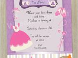 Princess Dress Up Party Invitations Items Similar to Birthday Invitation Card Princess Dress