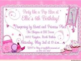 Princess Dress Up Party Invitations Princess Dress Up Pampering Invitation Birthday Makeover