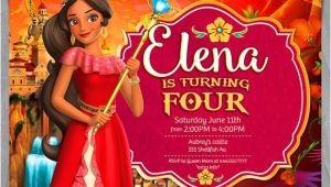 Princess Elena Of Avalor Party Invitations Elena Of Avalor Invitation Disney Princess Elena Invite