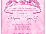 Princess First Birthday Invitation Wording Free Printable Princess Birthday Invitation Templates