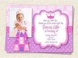 Princess First Birthday Invitation Wording Princess Birthday Invitations