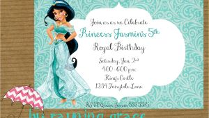 Princess Jasmine Birthday Party Invitations Kitchen & Dining