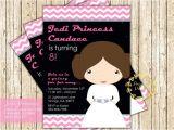 Princess Leia Party Invitations Star Wars Princess Leia Birthday Invitation Girl Star Wars