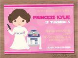 Princess Leia Party Invitations Starwars Princess Leia Birthday Invitation by Cutelittlesigns
