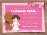 Princess Leia Party Invitations Starwars Princess Leia Birthday Invitation Digital Download