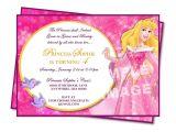 Princess Party Invite Wording Aurora Invitation Sleeping Beauty Invitation Disney