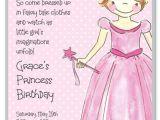 Princess Party Invite Wording Pretty Princess Girl Birthday Invitations Myexpression 15785