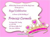 Princess Party Invite Wording Princess Birthday Invitation Wording Samples and Ideas