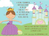 Princess Party Invite Wording Princess Birthday Party Invitations Wording Free