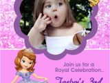 Princess sofia Birthday Invitation Template sofia the First Birthday Party Invitations 24 Hour Service