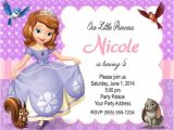 Princess sofia Birthday Invitation Template sofia the First Birthday Party Invitations Personalized