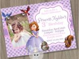 Princess sofia Birthday Invitation Template sofia the First Invitation Princess sofia Invitation
