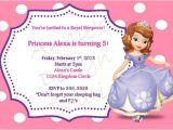 Princess sofia Party Invites Princess sofia Sleepover Party Invitation