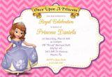 Princess sofia Party Invites Printable sofia the First Princess Birthday Invitation