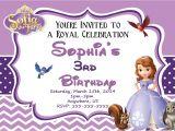 Princess sofia Party Invites sofia Birthday Party Invitations Templates
